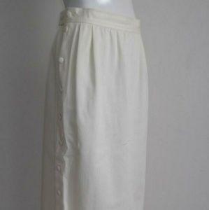Yves Saint Laurent Skirts - SOLD YSL Yves Saint Laurent highwaist button skirt